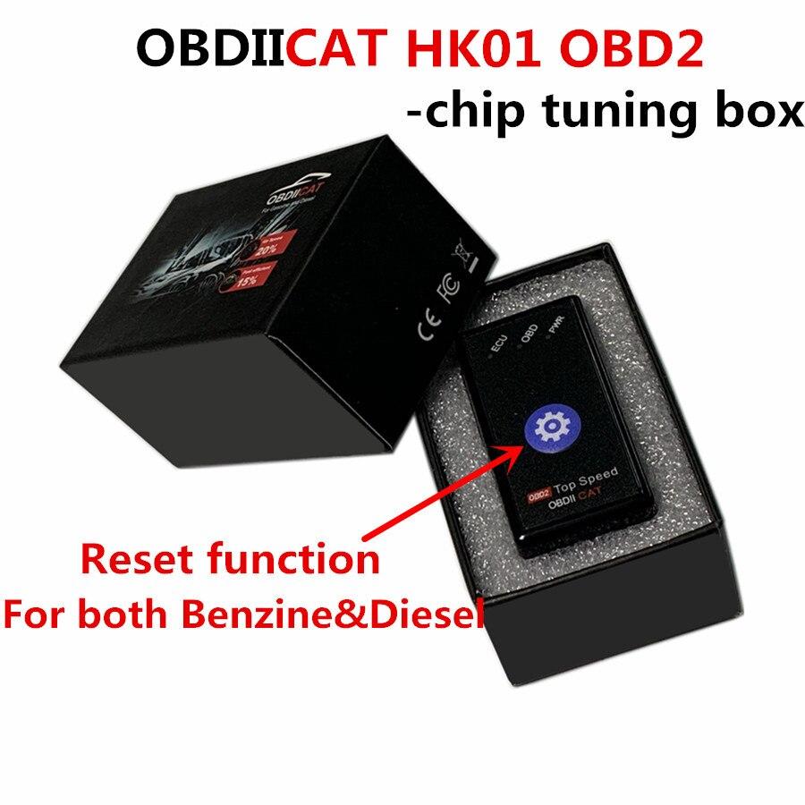 OBDIICAT-HK01 Super OBD2 Nitro OBD EcoOBD2 ECU Chip Tuning Box Plug NitroOBD2 Eco OBD2 Car 15% Fuel Save More Power dropshipping