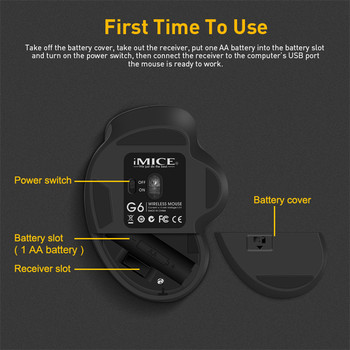 Wireless Mouse Ergonomic Computer Mouse PC Optical Mause with USB Receiver 6 buttons 2.4Ghz Wireless Mice 1600 DPI For Laptop 5