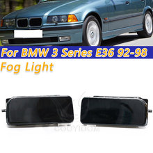 COOYIDOM Left Right Car Bumper Fog Lights Clear Lens Crystal Housing Case For BMW 3 Series  E36 1992 1998 Replacement Assembly