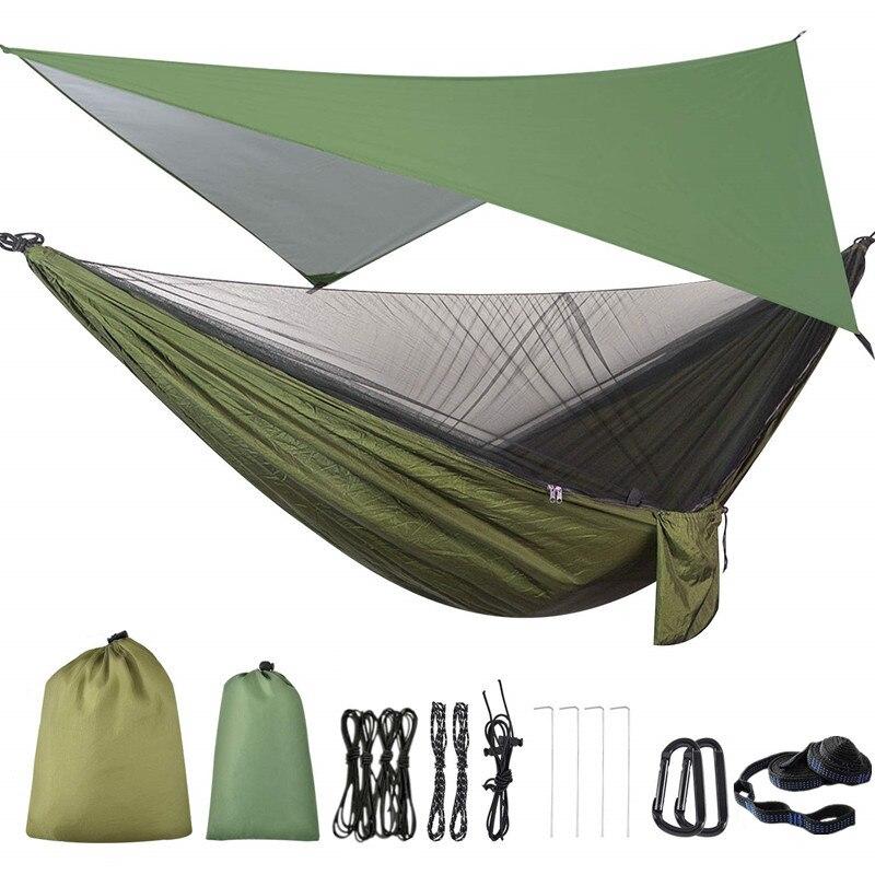Camping Hammock Mosquito Net and Hammock Canopy Portable Nylon Hammock Rain Fly Tree Straps for Hiking Camping Survival Travel|Hammocks| - AliExpress