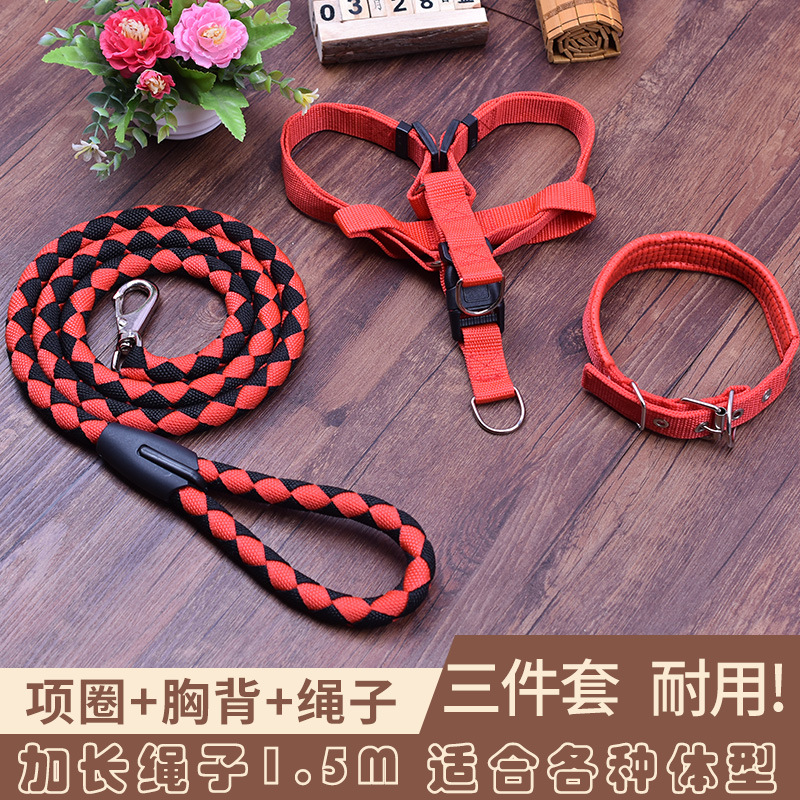 Dog Chain Dog Hand Holding Rope Large Medium Small Dogs Chest Teddy Neck Ring Suspender Strap Golden Retriever Dog Rope Lengthen