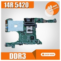 Laptop motherboard for DELL Inspiron 14R 5420 I5420 PC Mainboard 0KD0CC DA0R08MB6E2 full tesed DDR3
