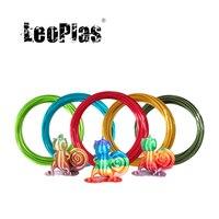 LeoPlas 1.75mm 10 e 20 metri campione di filamento in PLA di seta metallica per materiali di consumo per penne per stampanti 3D materiale plastico