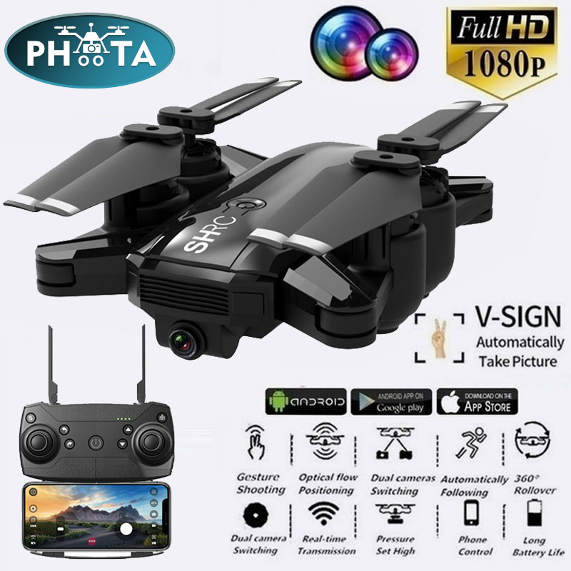 H1W Dynamic Follow WIFI FPV Video With1080P Camera RC Drone Selfie Quadcopter Helicopter VS XS809HW SG106 X12 M69 Dro XMAS GIFT