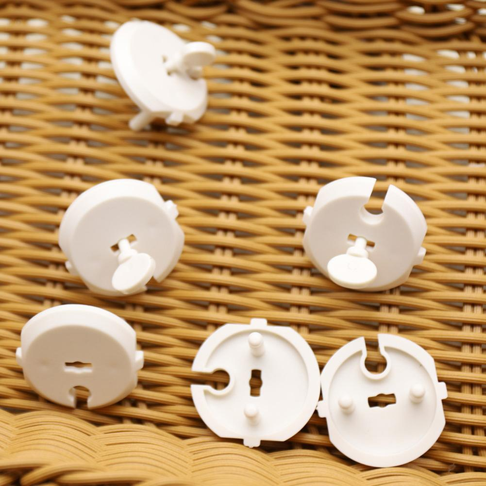 10Pcs Socket Cover ABS Baby Safety French Standard 2 Pin Plug Socket Outlet Child Proof Protection Covers Anti Electric Shock