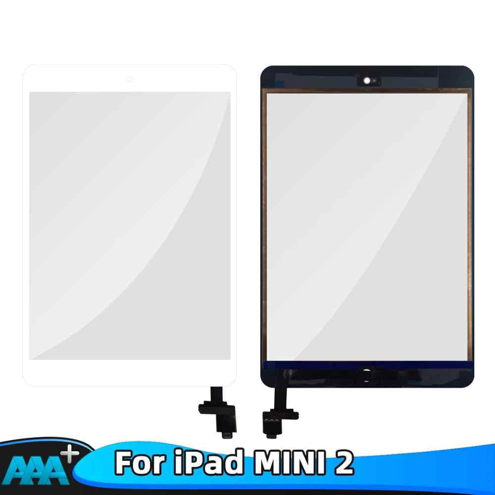 Baru untuk Ipad Mini 2 Touch Screen A1432 A1454 A1455 A1489 A1490 A149 Digitizer IC Kabel Mini1 Sensor Kaca + tombol Home