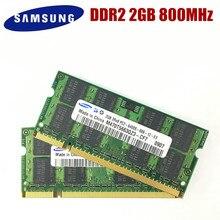 サムスンのノートパソコンのメモリ 4 ギガバイト 2 × 2 ギガバイト 800 MHz PC2 6400 DDR2 ノートラム 4 グラム 800 6400 S 2 グラム 200 ピン SO DIMM