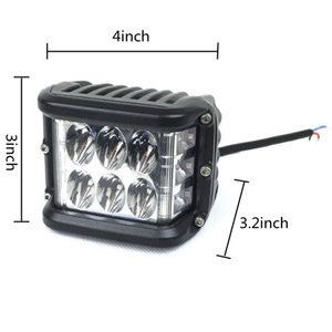 "Image 4 - 2/10PCS 4 ""3 Seiten Shooter 60W Led Arbeit Licht Cube Off Road 4x4 ATV Led Licht Fahren Lampe für SUV Lkw Auto Boot 10 30V"