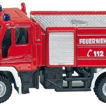 Feuerwehr,  Metall/Kunststoff, Rot, Bereifung aus Gummi, Spielzeugfahrzeug fr Kinder