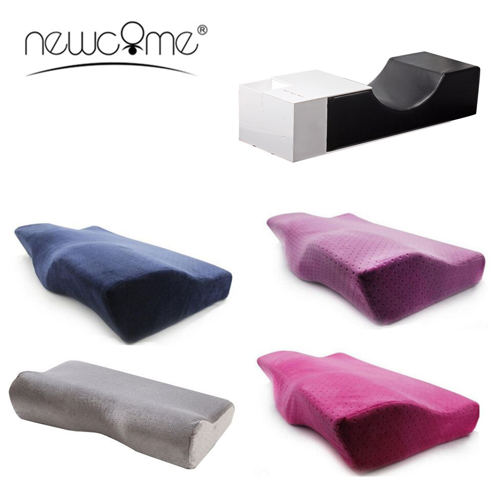 NEWCOME Soft Eyelash Extension Special Pillow For Salon Flannel Pillows Eyelashes Chronic Rebound Relieve Cervical Makeup Tools