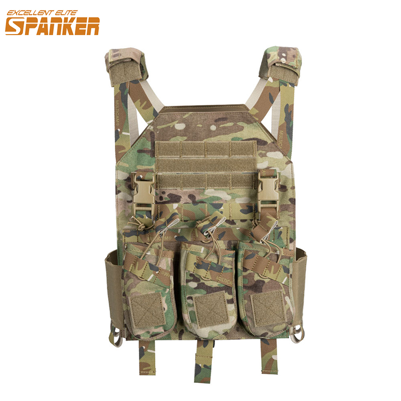 EXCELLENT ELITE SPANKER Camouflage Hunting Military Tactical Vest Wargame Body Molle Armor Hunting Vest CS SWAT Team Outdoor