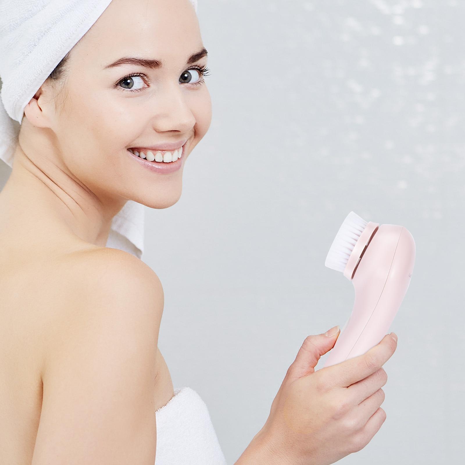 Gesichtsreinigungsbürste elektrisch & wasserdicht