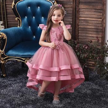 Princess Kids Baby Fancy Dress Applique Formal Party Dress For Girl Tutu Kids Clothes Children New Designs Dresses