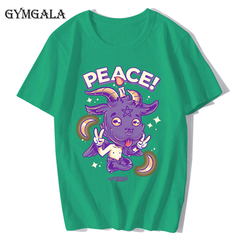 100% cotton anime cartoon Geng ghost printed men's T-shirt summer cotton short-sleeved T-shirt fashion tops tee men's clothing f - XQ-131green, Asian size XS