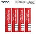 YCDC, новинка, 18650, 3,7 в, 3000 мАч, перезаряжаемая батарея BRC18650 с заостренным носком для фонариков, аккумуляторы 18650, литий-ионные аккумуляторы
