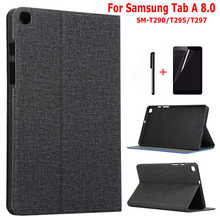 "iBuyiWin Ultra-slim Shockproof Silicone Cover for Samsung Galaxy Tab A 8.0 SM-T290/T295/T297 8.0"" Tablet TPU Case+Film+Pen(China)"