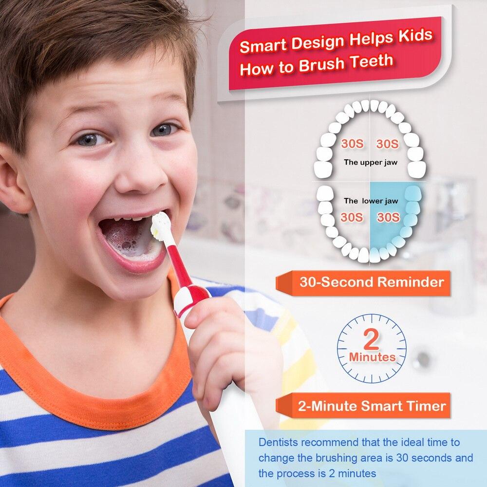 criancas escovas de dentes eletrica recarregavel proalpha 04