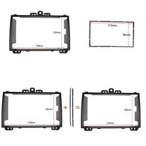 Image 2 - 2din rádio do carro de áudio quadro fascia para hyundai i20 i20 i 20 auto/manual ac 2008 + estéreo painel montagem kit adaptador guarnição moldura
