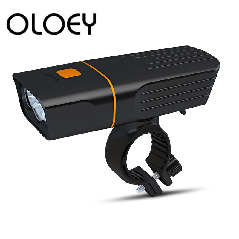 OLOEY Bike T6 LED Built-In 5200mAh18650 Bicycle Light Lantern For Cycling Flashlight USB Rechargeable Headlight Lamp Accessories