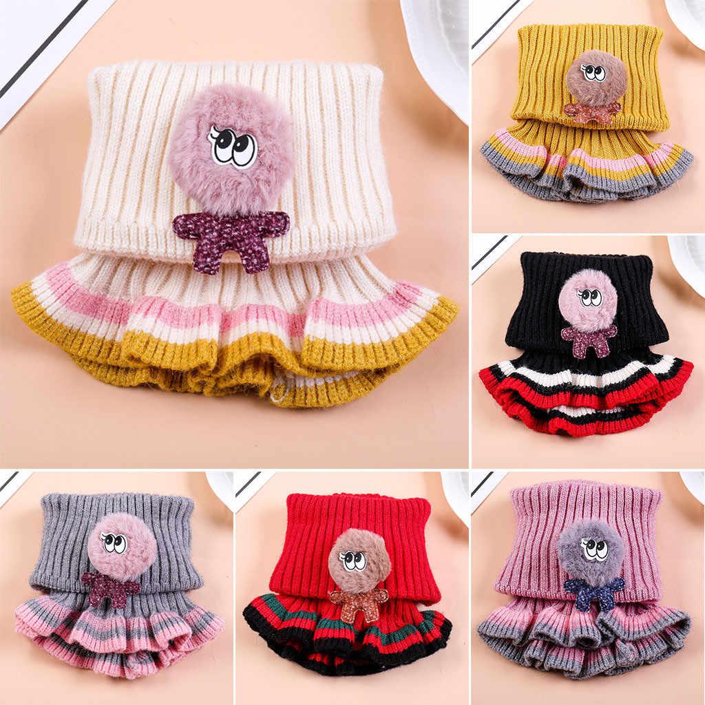 Bufanda de lana tejida para niños y niñas, cuello especial, cuello de invierno, capucha, cuello único, bufanda de invierno para niñas