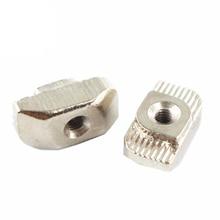50 шт./лот 3D-принтеры Запчасти M3/M4/M5 углерода Сталь T Тип Гайка крепежная Алюминиевый Разъем для Промышленный Профиль