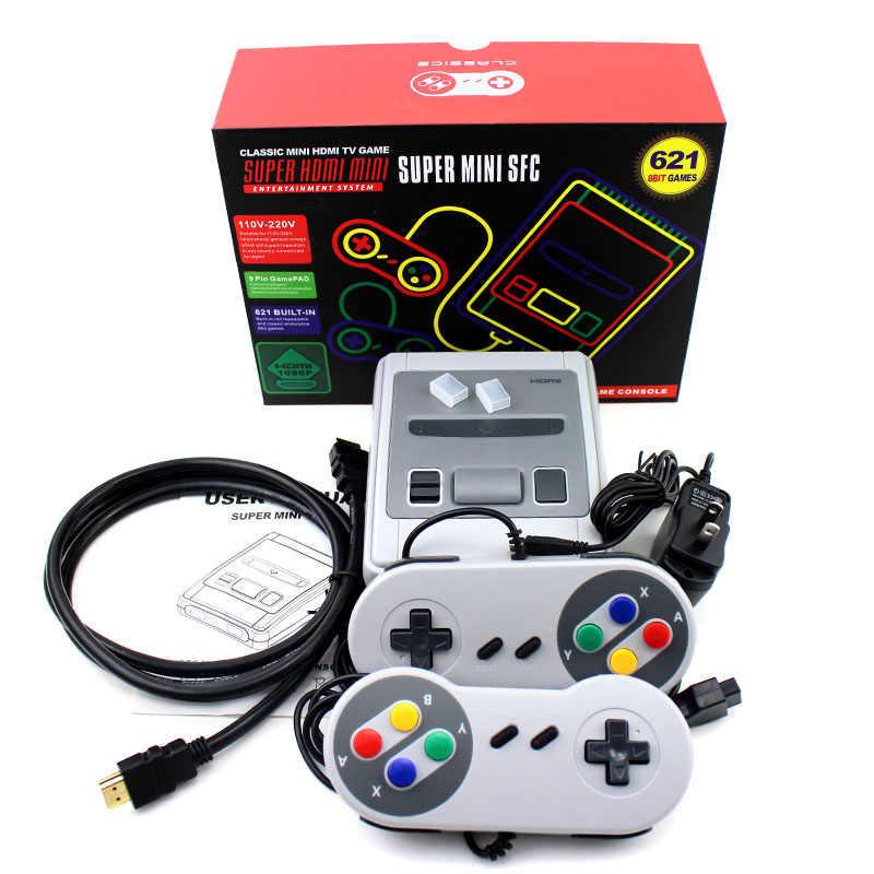 2019 HDMI/AV çıkışı MINI Retro klasik el oyun oyuncu aile TV video oyunu konsolu çocukluk dahili 620/621 8 bit oyunları