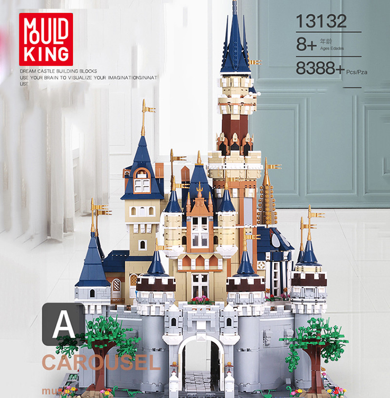 <font><b>13132</b></font> Paradise Princess Dream Castle Creator Series 8388PCS UCS Set Building Blocks Bricks 71040 16008 Kids Christmas Toys image