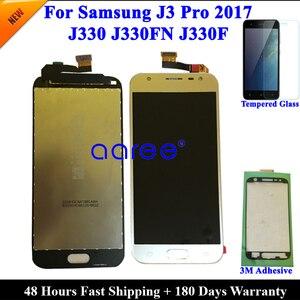 Image 2 - Yapıştırıcı + % 100% test edilmiş Samsung J3 2017 J330 LCD J330F J330 ekran LCD ekran dokunmatik sayısallaştırıcı tertibatı, değil J327