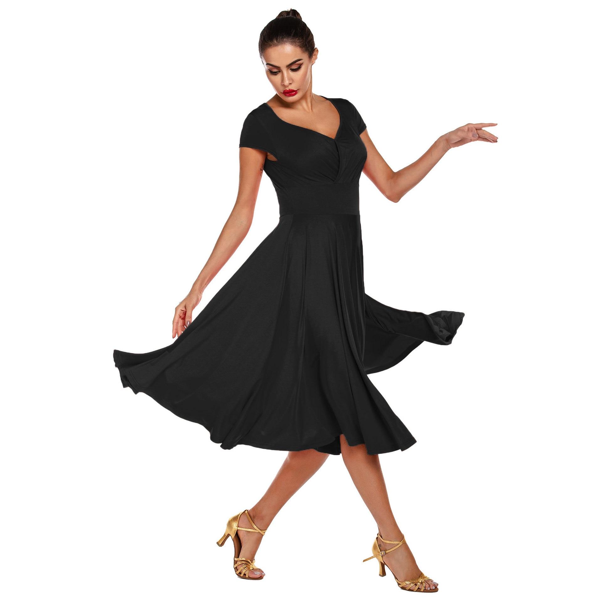 2020 New Woman Latin Dance Dress Adult Ballroom Dance Big Swing Skirt High Quality Dance Costume Drop Shipping
