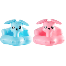 Baby Inflatable Chair Learn To Sit Sofa Bath Seats Dining Pushchair PVC Infant Portable Play Mat Learn Stool with Pump Promotion