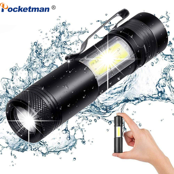 XML-Q5+COB LED Flashlight Portable Super Bright Waterproof in life Lighting lantern Adjustable torch Use AA 14500 Battery sitemap 12 xml