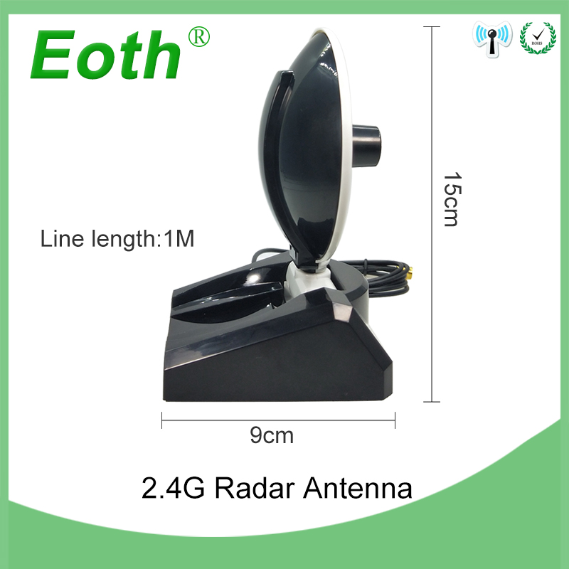 10pcs WiFi Antenna 2.4GHz Antenna High Gain 10dBi RP-SMA Male Wireless WLAN Directional Radar Antenna With RG174 Cable 1M Router