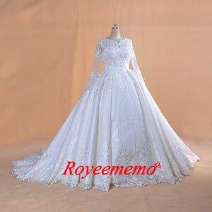 Image 4 - 2020 Full ประดับด้วยลูกปัด TOP งานแต่งงานชุดยาวแขนงานแต่งงานชุดที่กำหนดเองขายส่งเจ้าสาวชุดใหม่ชุดเจ้าสาวชุดบอล