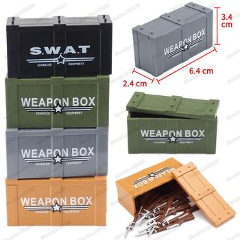 Armed Box Figures Weapons Military Building Block WW2 Battlefield Army Moc SWATs Soldier Equipment Boxs Model Child Gift Toy