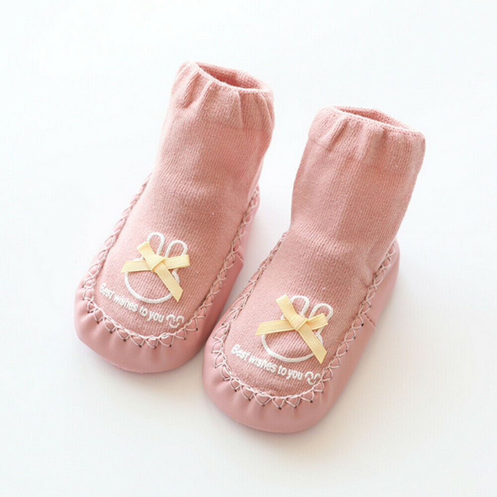 Toddler//Little Kid Cute Cartoon Sock Shoes Boots Slipper Baby Anti-slip Cotton Socks