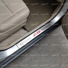 For MG ZS EV Car Accessories Door Sill Protector Scuff Plate Pedal Cover Stainless Steel Guard Trim Sticker 2021 2022 2017 2018