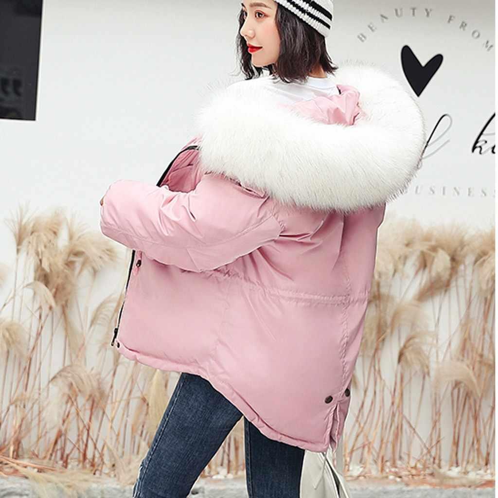 ผู้หญิง Parkas ผู้หญิงเสื้อกันหนาว Outwear ยาวหนาขนสัตว์ผ้าฝ้าย Parka Slim แขนยาวแขนยาวเสื้อร้อนขาย