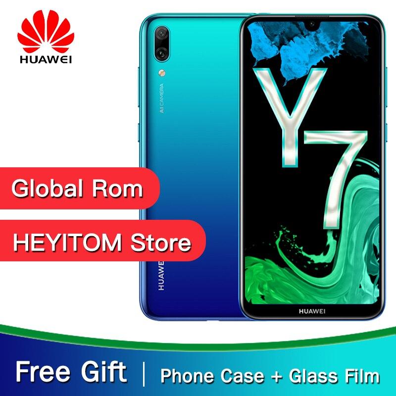 D'origine HuaWei Y7 Pro 2019 profiter de 9 Smartphone 6.26 Octa Core Android 8.1 4GB RAM 64GB ROM 13MP caméras téléphone