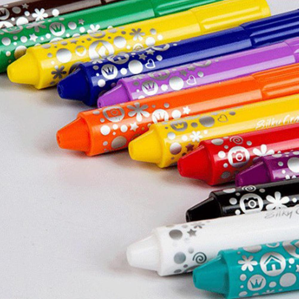 Cartoon Non-Toxic Colors Oil Crayon Toys For Kids Baby Funny Graffiti Tool  Drawing Crayon