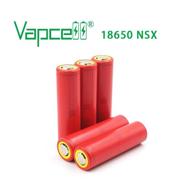 Vapcell 100% original 18650 2600mAh 20A rechargeable battery  (UR18650nsx) flat top and button top batteries