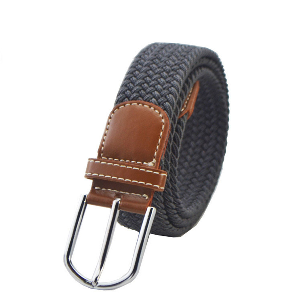 Jaycosin Adjustable Unisex Canvas Military Weaving Waist Belt Popular Casual Elastic Light Gift Leisure Outdoor Belt