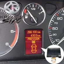Pantalla LCD para salpicadero de coche, para Peugeot 407, 407SW, 407, Coupe VDO, Grupo A2C53119649, 9658138580