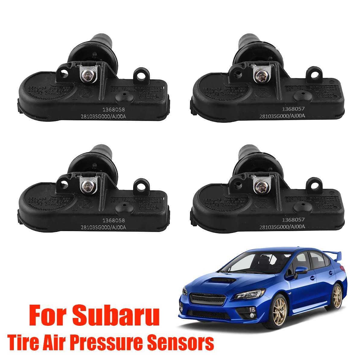 4Pcs/Set Tire Pressure Sensors Genuine TPMS Tire Air Pressure Sensors For Subaru 28103SG000 28103AJ00A Internal External Tyre