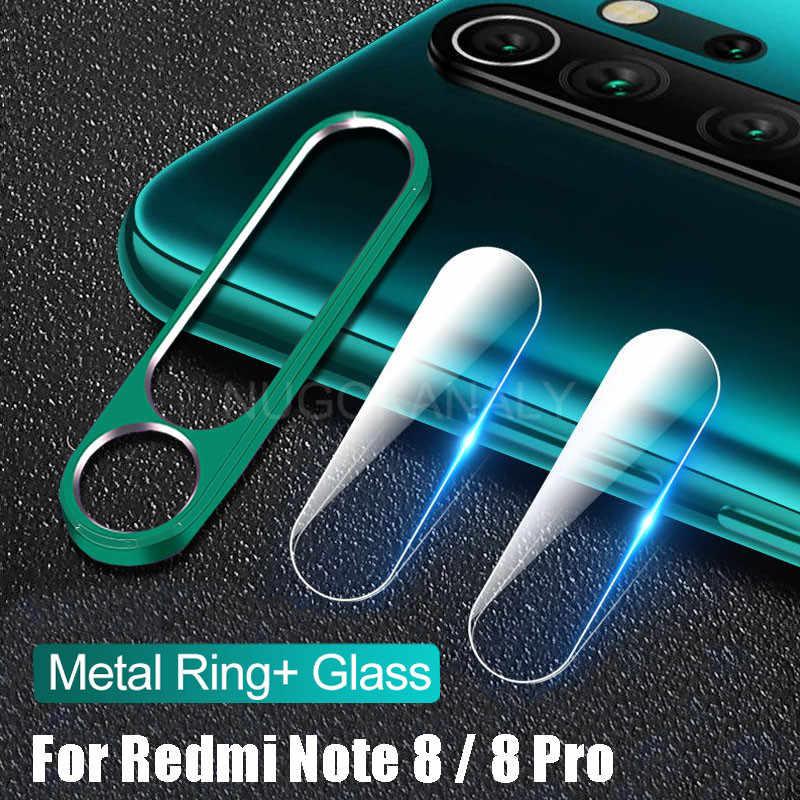 กล้องเลนส์ป้องกันแหวนโลหะสำหรับ Xiaomi Redmi หมายเหตุ 8 Pro กลับกล้องเลนส์ป้องกันหน้าจอสำหรับหมายเหตุ 8T Case