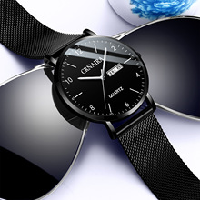2019 Sale New Arrival Fngeen Fashion & Casual Alloy Buckle 3bar No Package Glass Round Leather Quartz Wristwatches