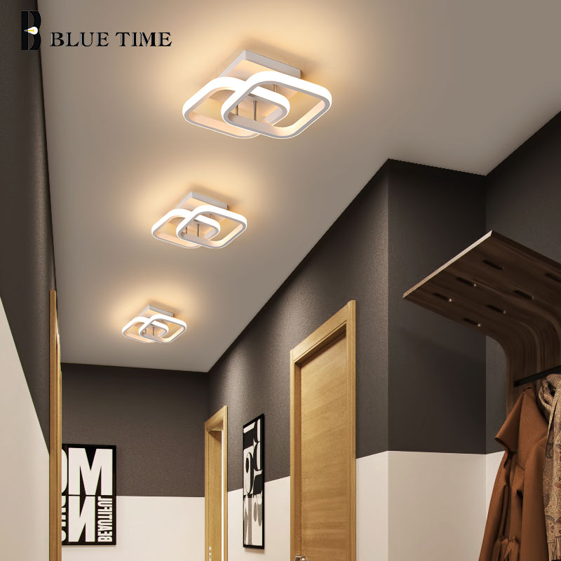 LED Modern Ceiling Lights For Bedroom Living Room Dining Room Black&White Finished Corridor Light Balcony Lights Ceiling Lamps