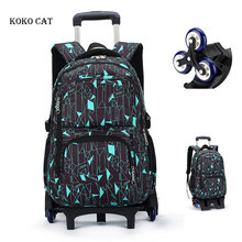Children Trolley Backpack Travel Rolling Luggage Bag Girls Orthopedic Satchel Schoolbag with Wheels Mochila Infantil Escolares