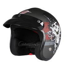 Men Women Motorcycle Half Helmet 3/4 Open Face Vintage Unisex Helmet for Motorbike Riding Scooter Commute Casco De Moto P902