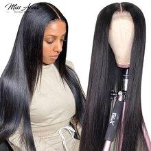 32 34 36 38 Polegada peruca dianteira do laço reto 100% perucas de cabelo humano 5x5 6x6 peruca fechamento brasileiro remy em linha reta 13x6 peruca frontal do laço