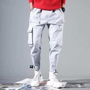 Image 4 - 2020 sıcak satış erkekler Hip Hop Patchwork Sweatpants Joggers pantolon rahat İpli spor pantolon erkek Hip Hop kişilik pantolon